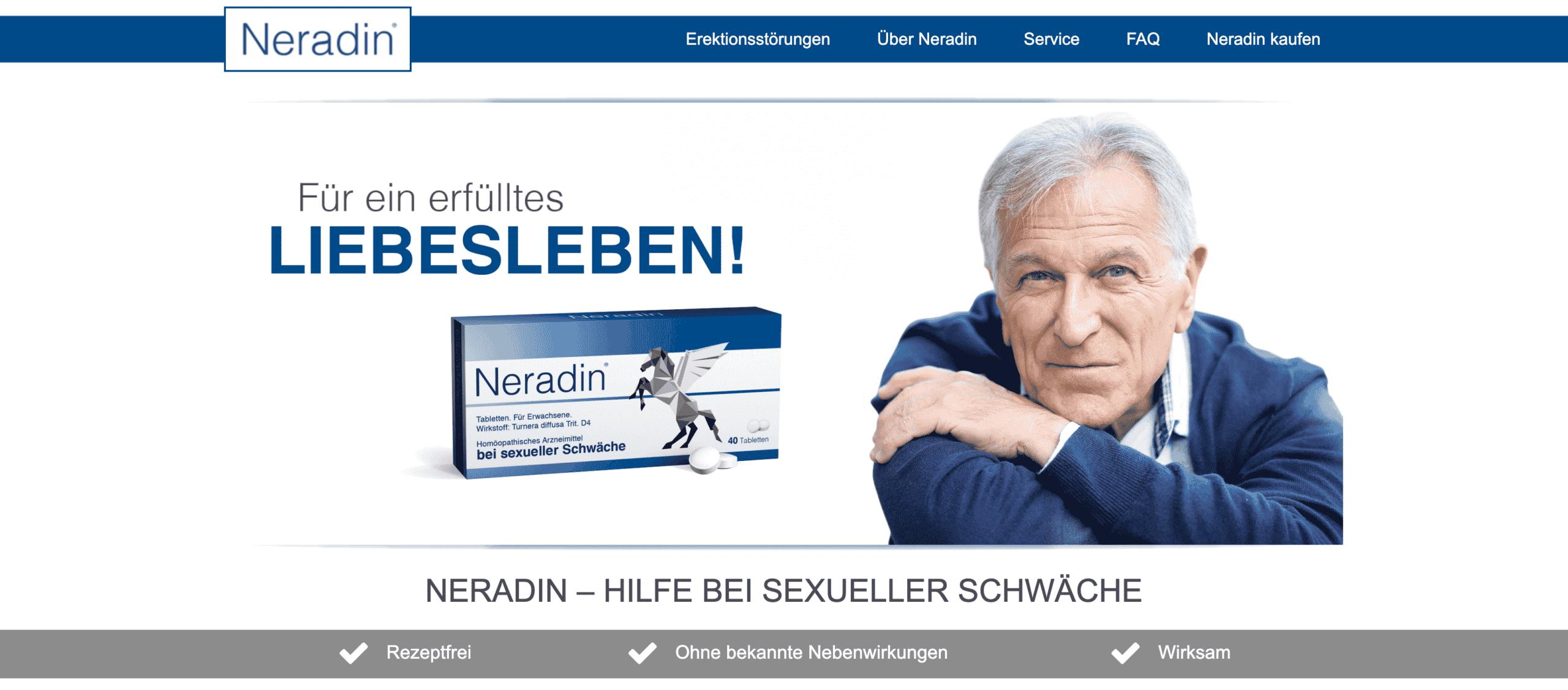 Neradin Webseite